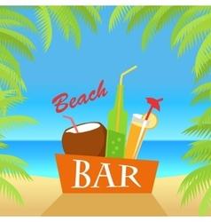 Beach Bar Concept Summer Drinks vector image vector image