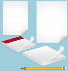 blank pages note and pencil vector image