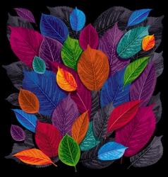 Dark leaves background vector
