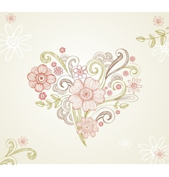 Greeting card for wedding or valentine day vector image