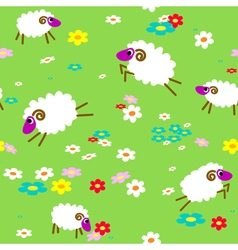 sheep in meadow vector image