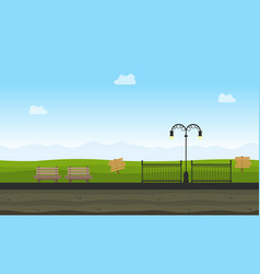 style background game in garden landscape vector image