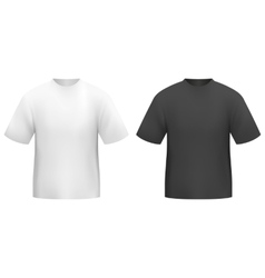 tshirt black and white vector image