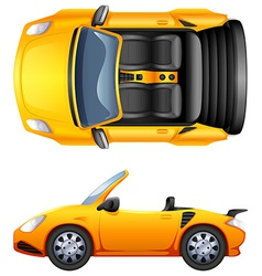 A top and side view of a sports car vector image