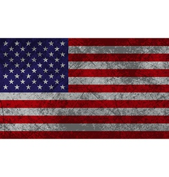 American Flag Grunge vector image vector image