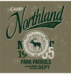 Northland adventures vector image vector image