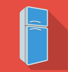 refrigerator icon in flate style isolated on white vector image