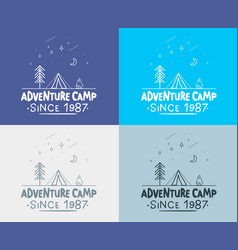 trendy camping label hand drawn t shirt print vector image vector image