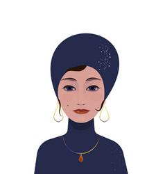 beautiful gypsy woman soothsayer ar-deco vector image