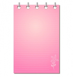 Girl's notepad vector image