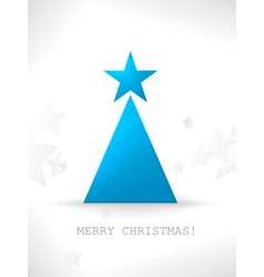 Modern stylized and minimalistic christmas tree ve vector
