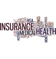 the new way to lower the cost of health insurance vector image