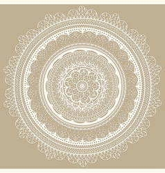 vintage white lacy napkin vector image
