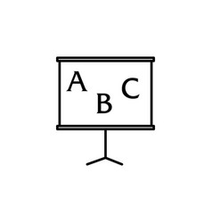 Abc blackboard icon vector