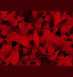 abstract passionate red with triangles vector image