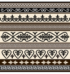 antique borders vector image