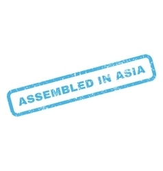 Assembled In Asia Rubber Stamp vector image