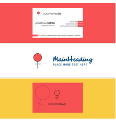 beautiful female logo and business card vertical vector image