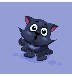 Black cat surprised vector