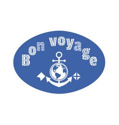 Bon voyage fancy letters vector