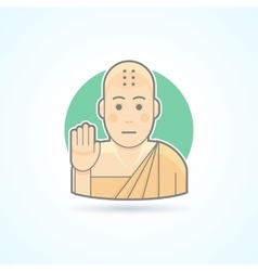 Buddhism monk Tibetan novice icon vector image