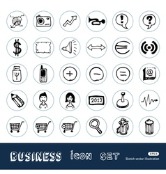 Business media icons vector image