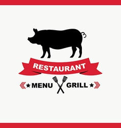 Cafe menu grill template design vector