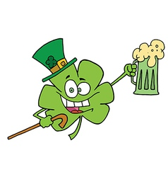 Clover Character In A Green Hat vector image