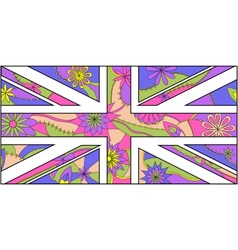 colorful stylezed UK flag vector image