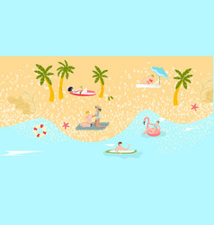 composition beach tourism summer vacation vector image