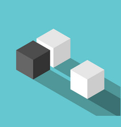 couple and odd cube vector image