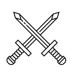 Crossed sword icon symbol vector