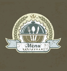 design menu label on grange vector image