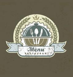 Design menu label on grange vector