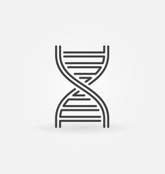 Dna concept linear logotype or icon vector
