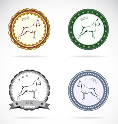 Dog labels vector image