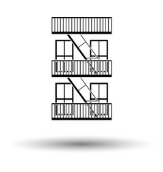 Emergency fire ladder icon vector