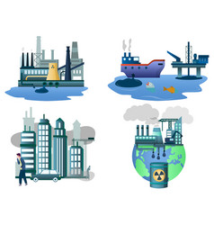 environment pollution concept isolated vector image