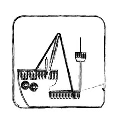 Figure picture ship maritime transpotation vector