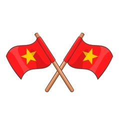 Flag of Vietnam icon cartoon style vector image