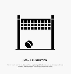 game goalpost net volleyball solid glyph icon vector image
