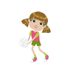 GIrl Playing Volleyball vector image