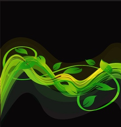 Green abstract leaves background vector image