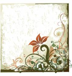 Grunge floral design background vector