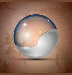 Half-gray colored transparent sphere vector