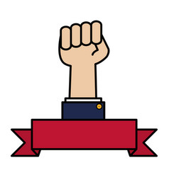 hand fist force icon vector image