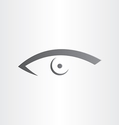 Human eye stylized icon vector