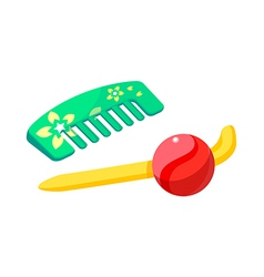 Icon comb vector