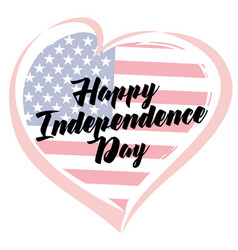 Independence day love usa emblem vector