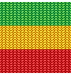 Knitted reggae pattern vector